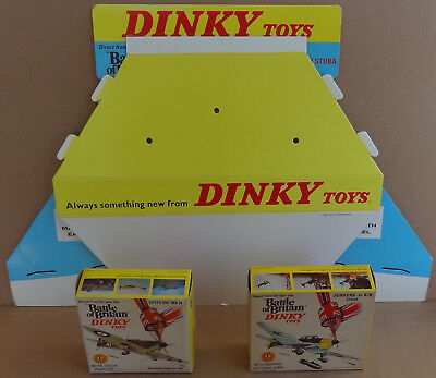 Dinky Toys - Battle of Britain shop counter display stand Spitfire Junkers Stuka