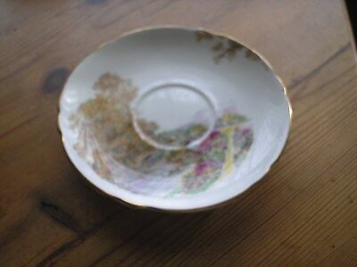 Vintage Art Deco 'Heather' Saucer by Shelley