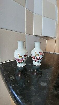 pair of fine small chinese vases