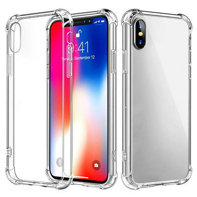 For iPhone XS MAX XR Case Cover Shockproof Soft Rubber TPU Transparent Slim Thin