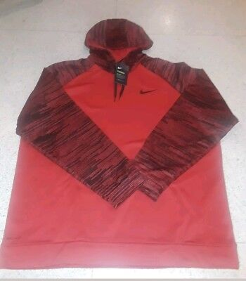 Nike Men/'s Red Hooded Sweatshirt Hoodie AQ2712-657 DRI-FIT Therma 3XL 3XLT 4XL