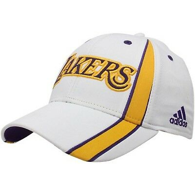 adidas NBA Los Angeles Lakers White Team Jersey Pro Shape Structured Flex  Hat. 95fa6322336a
