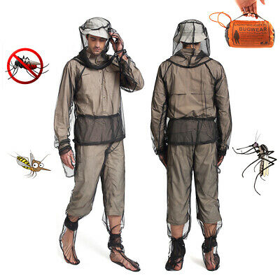Anit-Mosquito Clothing Mesh Full Suit Insect Repellent Jacket Pants Mitts Socks