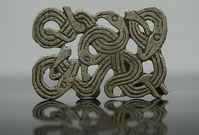 Viking Silver Zoomorphic Applique Depicting Norse Eternity Knot 950-1050 AD