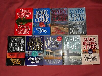 MARY HIGGINS CLARK Lot of 9 Mystery Paperback books: 9 books $10~No Ship Charges