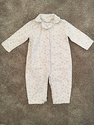 The Little White Company Baby Girl Floral Pyjamas Age 6-9 Months