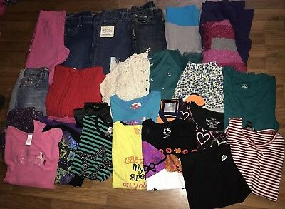 Girls Fall Clothes Sweater Dress Jeans Sz 10/12 Lot Of 26 Justice