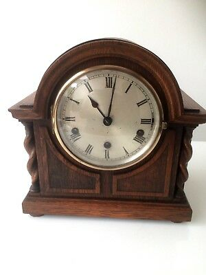 Vintage Oak German Westminster Chime Mantel Clock Spares And Repairs