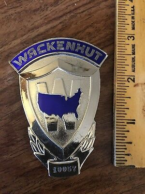 WACKENHUT Security Badge, Free Shipping