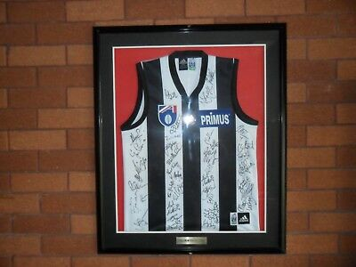 Collingwood Magpies Primus Fc 1998 Signed Jersey Sutherland Shire