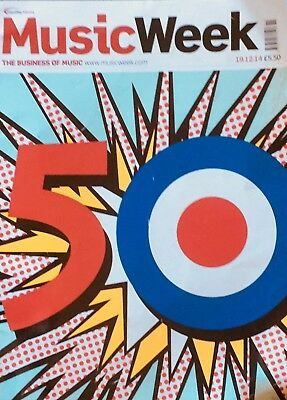 MUSIC WEEK MAGAZINE 19.12.14 THE WHO 50th ANNIVERSARY SPOTLIGHT ISSUE