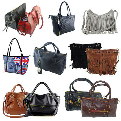 Women Leather Handbag Ladies Shoulder Purse Messenger Satchel Crossbody Tote Bag