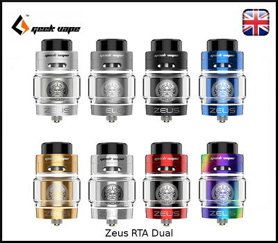 GeekVape Zeus RTA DUAL COIL - Leak Proof Tank & Bulb Glass - 100% Authentic