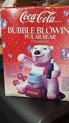 coca cola bubble blowing bear