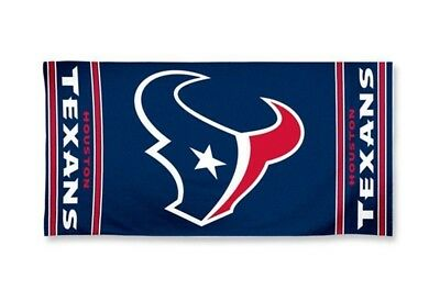 "Houston Texans Fiber Reactive Beach Towel 30"" x 60"" McArthur NFL"