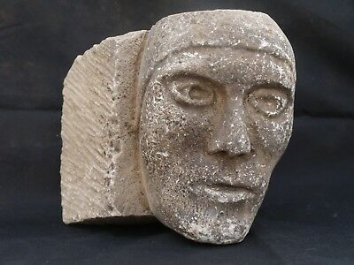 Circa 13th Century Male Grotesque, Possibly Wearing A Coif