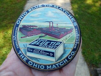 Vtg  Ohio Match Co Advertising Pocket Mirror Paperweight Matches Matchbook