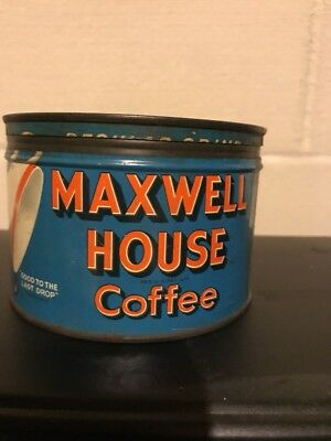 Vintage MAXWELL HOUSE COFFEE Tin w/ Lid ONE POUND General Foods