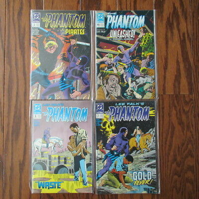 The Phantom - LOT  (DC Comics) - Issues # 3, 5, 6 & 8 - Very Good (Lee Falk)