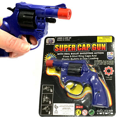 Super Cap Gun Traditional 8 Shot Boys Toy Present Gift Christmas Stocking Filler