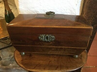 Regency Tea caddy box jewellrey chest  casket