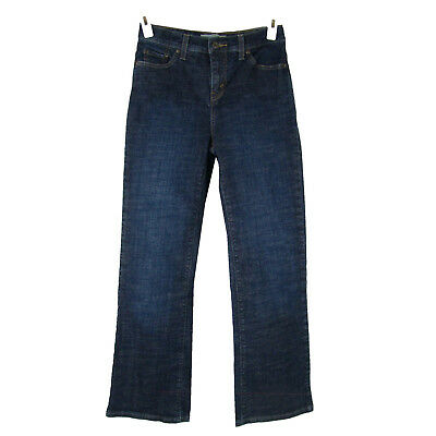 LEVI'S 512 Jeans 4 Short Perfectly Slimming Boot Cut Mid Rise Stretch Dark Wash