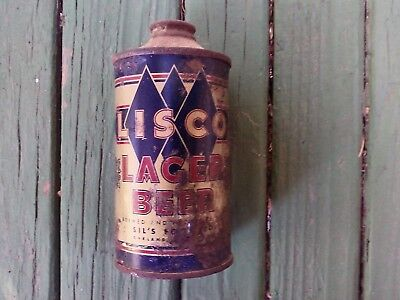 Lisco lager  beer cone top beer can