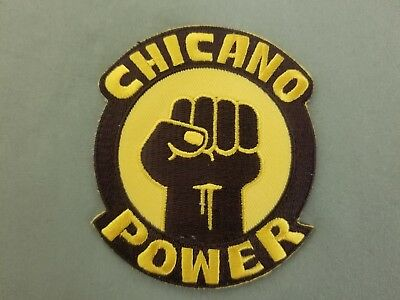 chicano power fist  embroidered iron on patch