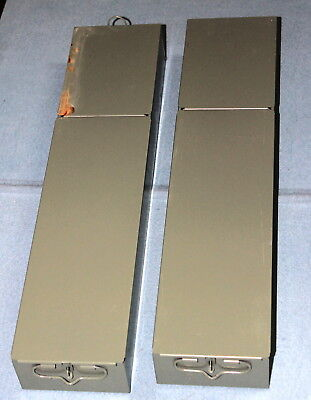 """Two long steel safe deposit box inserts about 5"""" x 21"""" x 3"""" excellent condition!"""