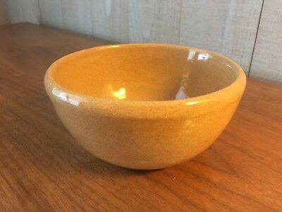 VINTAGE BYBEE POTTERY BOWL made in KENTUCKY, BROWN GLAZE