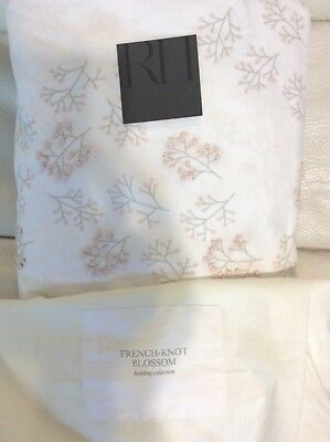 Restoration Hardware Baby & Child French Knot Blossom Dot Twin Duvet Petal Pink