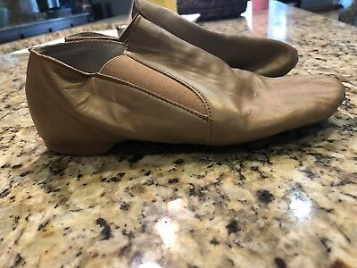 Dance Class Girls Youth Size 6 Tan Leather Dance Jazz  Hip Hop Shoes