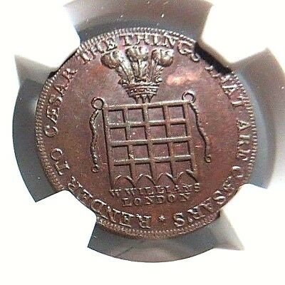 1795 - Middlesex - Williams - Conder Token - Dh - 916 - 1/2P - Ngc Ms - 62 - Nr