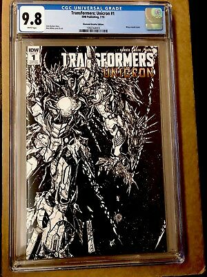 TRANSFORMERS UNICRON #1 CGC 6.8 Variant Cover SDCC 2018 IDW Retailer Exclusive