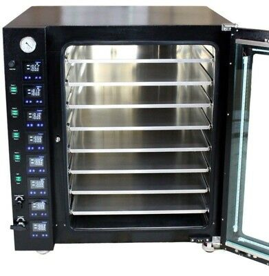 16CF Vacuum Oven - LCD Display and LED's - 8 Individually Heated Shelves