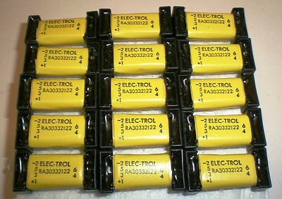 15 Reed Relays 2Pole NC,12 VDC, ELEC-TROL #RA30332122, Epoxy Sealed, Made in USA