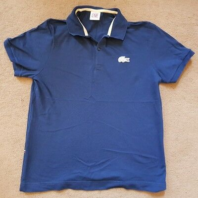 Gents Lacoste Live Polo Shirt Mens Navy Large Logo Big Croc Indie