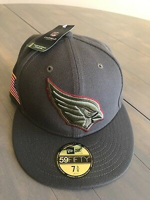 new concept abe08 aa9b7 NEW!!! NFL Arizona Cardinals Cap Era 59Fifty Fitted Salute to Service Hat 7