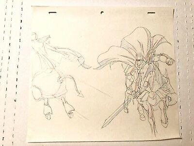 King Arthur And The Knights of Justice Animation Production Cel Sketch