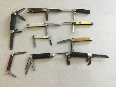 Lot of 10 pcs Antique Old Jack Knives Knife Vintage Collection