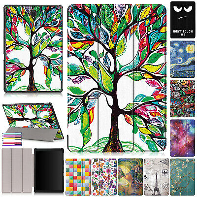 For Samsung Tab A 10.5 T590 T595 T597 Cute Smart Leather Folded Case Stand Cover