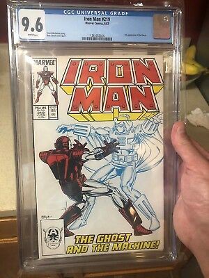 CGC 9.6 Iron Man # 219 - White Pages - 1st Ghost
