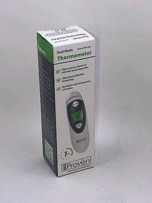 New in box iProven Dual Mode Medical Forehead Ear Thermometer Model DMT-489