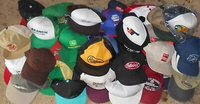 Lot 46 Trucker strap snap back caps hats vintage racing trucking fishing farming