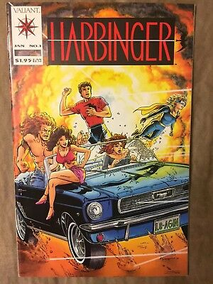 Harbinger 1 Valiant WITH COMPLETE Coupon!! VG/VF? 1992