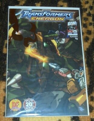 RARE Transformers Energon #25 Dynamic Forces Foil Cover #536/1000 DF WITH COA
