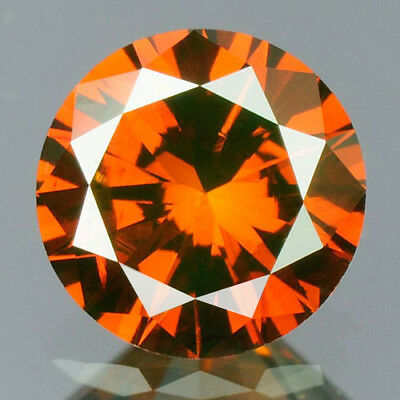 0.33 cts. CERTIFIED Round SI2 Vivid Blood Red Color Loose Natural Diamond 11202
