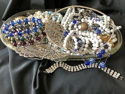 Vintage - New Jewelry LOT WEAR CRAFTS Rhinestones Necklaces Bracelets Pins More!