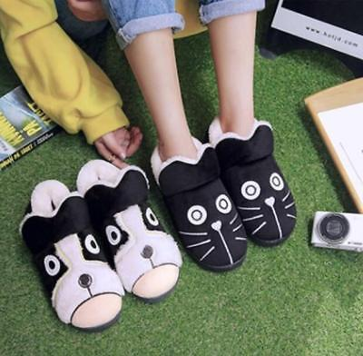 Unisex Mens Womens Fur Lined Cat Dog Indoor Carpet Shoes Warm Slippers Sea1988