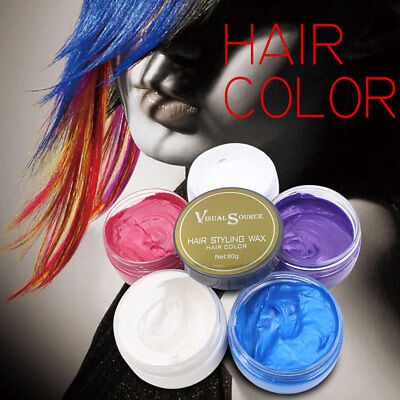 Hair Styling Waxes Promades Strong Hold Temporary Coloring Gel Mud Wax DIY
